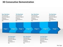 Ppt 3d Consecutive Demonstration To Prevent Banking Losses Seven Steps PowerPoint Templates