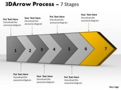 Ppt 3d Continuous Arrow PowerPoint Slide Numbers Spider Diagram Template 8 Graphic