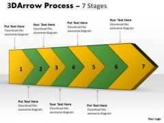 Ppt 3d Continuous Arrow Steps Working With Slide Numbers Diagram PowerPoint Free 1 Graphic