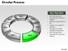 Ppt 3d Green Animated Multicolor Circular Process PowerPoint Templates