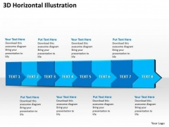 Ppt 3d Horizontal Illustration To Prevent Marketing Losses Eight Steps PowerPoint Templates