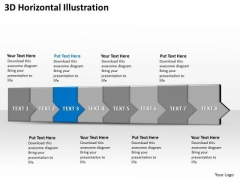 Ppt 3d Horizontal Illustration To Prevent Monetary Losses Eight Steps PowerPoint Templates
