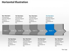 Ppt 3d Horizontal Illustration To Restrain Marketing Losses Eight Steps PowerPoint Templates