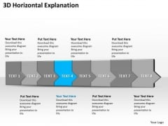 Ppt 3d Horizontal Illustration To Slow Down Marketing Losses Eight Steps PowerPoint Templates