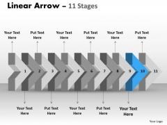 Ppt 3d Illustration Of Beeline Arrow Flow Ishikawa Diagram PowerPoint Template 11 Graphic