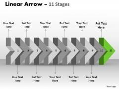 Ppt 3d Illustration Of Beeline Arrow Flow Ishikawa Diagram PowerPoint Template 12 Graphic