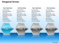 Ppt 3d Illustration Of Octagonal Arrows PowerPoint Templates 4 Stages