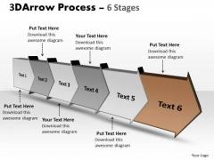Ppt 3d Illustration Of Six Step Arrow Forging Procedure PowerPoint Slides 7 Image