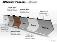 Ppt 3d Illustration Of Six Step Arrow Procedure Industry Plan PowerPoint 4 Image