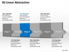 Ppt 3d Linear Abstraction To Cut Off Business Losses Six Steps PowerPoint Templates