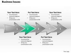 Ppt 3d Linear Abstraction To Demonstrate Business Issues Six Steps PowerPoint Templates