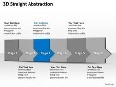 Ppt 3d Linear Abstraction To Oppose Business Losses Six Steps PowerPoint Templates