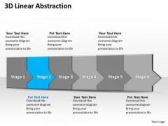 Ppt 3d Linear Abstraction To Prevent Financial Losses Six Steps PowerPoint Templates