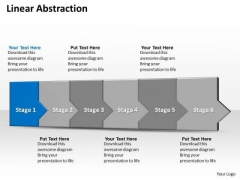 Ppt 3d Linear Abstraction To Prevent Marketing Losses Six Steps PowerPoint Templates
