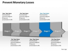 Ppt 3d Linear Abstraction To Prevent Monetray Losses Six Steps PowerPoint Templates