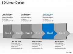 Ppt 3d Linear Abstraction To Shut Down Business Losses Six Steps PowerPoint Templates