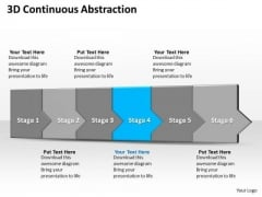 Ppt 3d Linear Abstraction To Shut Off Business Losses Six Steps PowerPoint Templates