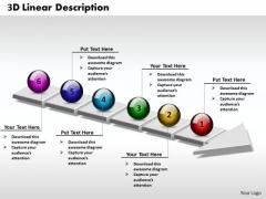 Ppt 3d Linear Description Of Free Concept Steps 6 State Diagram PowerPoint Templates