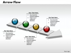 Ppt 3d Linear Flow Arrow 4 Power Point Stage PowerPoint Templates