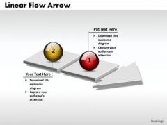 Ppt 3d Linear Flow Arrow Business 2 Stages PowerPoint Templates