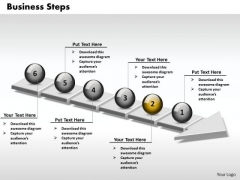 Ppt 3d Linear Illustration Of Business PowerPoint Presentation Steps 6 Stages Templates