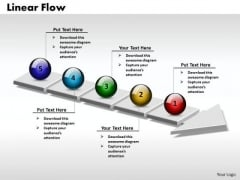 Ppt 3d Linear Process Flow PowerPoint Template Arrow 5 Phase Diagram Templates