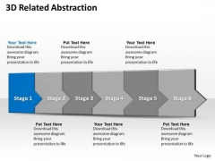 Ppt 3d Linear Steps To Obstruct Business Losses Six PowerPoint Templates