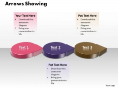 Ppt 3d Multicolor Arrows PowerPoint Templates Showing Three Stage
