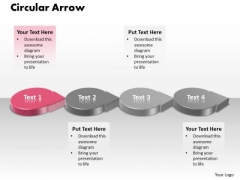 Ppt 3d Pink Circle PowerPoint Presentation Shaped Text Arrow Templates