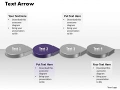 Ppt 3d Purple Circle PowerPoint Template Shaped Text Arrow Templates