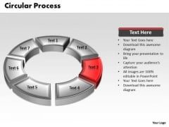 Ppt 3d Red Animated Circular Forging Process PowerPoint Slides Templates