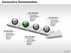 Ppt 3d Successive Demonstration Using Arrow Of 4 Stages PowerPoint Templates
