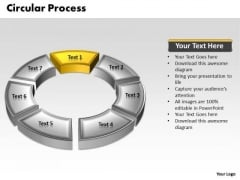 Ppt 3d Yellow Animated Multicolor Circular Process PowerPoint Templates