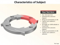 Ppt 4 Characteristics Of Subject PowerPoint Certificate Templates