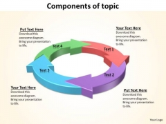 Ppt 4 Components Of Topic Presentation PowerPoint Slide Text 2007 Templates