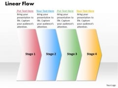 Ppt 4 Phase Diagram Linear Process Flow PowerPoint Template Templates