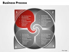 Ppt 4 PowerPoint Slide Numbers Planning Process Business Diagram Templates