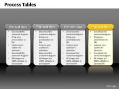 Ppt 4 Reasons You Should Buy From Us Process Tables Highlight PowerPoint Templates