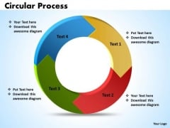 Ppt 4 Stages Circular Process Free PowerPoint Template Templates