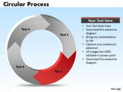 Ppt 4 Stages Process Cycle Cause And Effect Diagram PowerPoint Template Templates