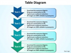 Ppt 4 Step Table Network Diagram PowerPoint Template Editable Templates