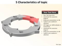 Ppt 5 Characteristics Of Subject Presentation PowerPoint Tips 2010 Templates