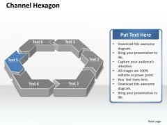 Ppt 6 Channel Hexagon Angles Editable Layouts PowerPoint Free 2010 Templates
