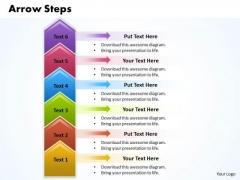 Ppt 6 Colorful PowerPoint Graphics Arrows Pointer Upwards Templates
