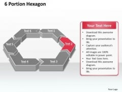 Ppt 6 Portion Hexagon Editable Layouts PowerPoint 2003 2007 Templates