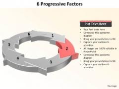 Ppt 6 Progressive Factors Presentation PowerPoint 2010 Templates