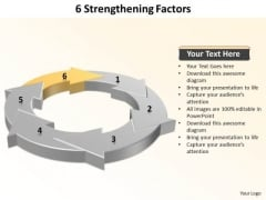 Ppt 6 Strengthening Factors Marketing Presentation PowerPoint Templates