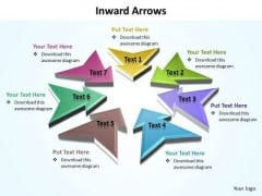 Ppt 7 Colorful PowerPoint Background Arrows Pointing Inwards Templates