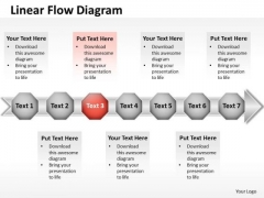 Ppt 7 Continual Stages Business Presentation Download Data Flow Diagram PowerPoint Templates