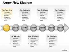 Ppt 7 Continuous Stages Free Business PowerPoint Templates Data Flow Diagram